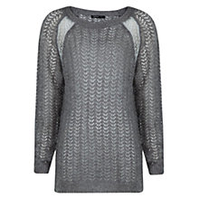 Buy Mango Metallic Details Jumper, Medium Grey Online at johnlewis.com
