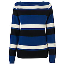 Buy Jaeger Striped Wool Cashmere Sweater, Multi Online at johnlewis.com