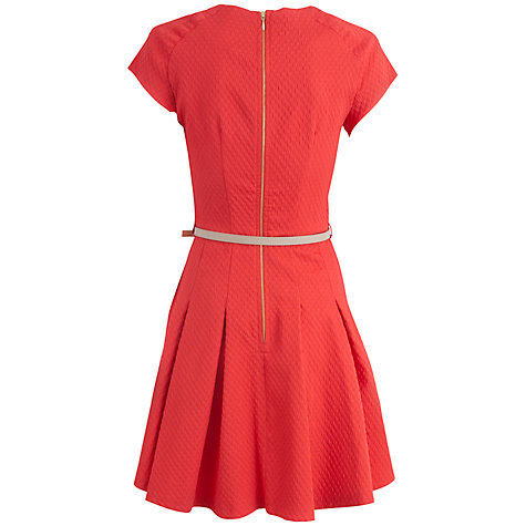Buy Almari Waffle Sleeve Dress, Coral Online at johnlewis.com