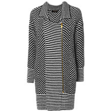 Buy Jaeger Herringbone Cardigan, Black Online at johnlewis.com