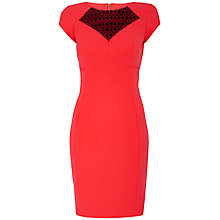 Buy Almari Lace Sweetheart Dress, Coral Online at johnlewis.com