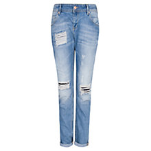 Buy Mango Medium Wash Boyfriend Jeans, Medium Blue Online at johnlewis.com