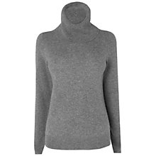 Buy Jaeger Pure Cashmere Sweater, Mid Grey Online at johnlewis.com