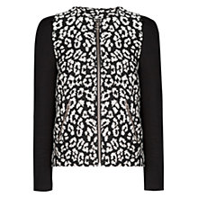 Buy Mango Leopard Cotton Jacket, Black Online at johnlewis.com