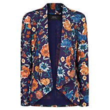 Buy Mango Floral Print Blazer, Bright Orange Online at johnlewis.com
