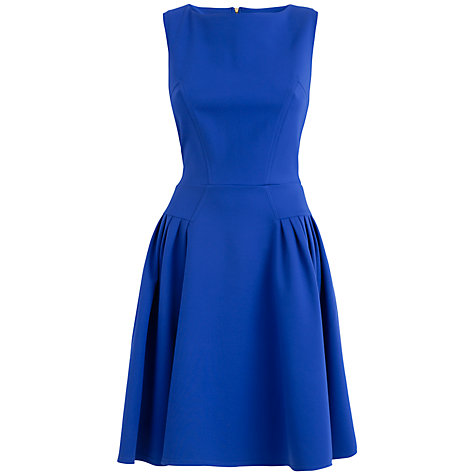 Buy Almari Gathered Ponti Dress, Blue Online at johnlewis.com