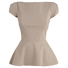 Buy Almari Seam Peplum Top, Beige Online at johnlewis.com