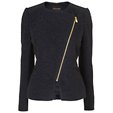 Buy Jaeger Boucle Biker Jacket, Black Online at johnlewis.com