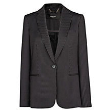 Buy Mango Pinstripe Suit Jacket, Grey Online at johnlewis.com