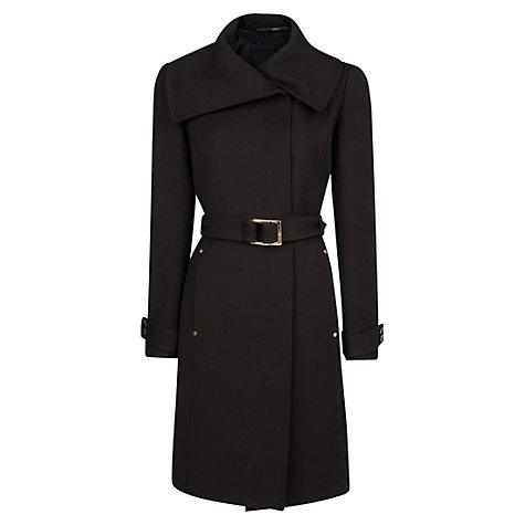 Buy Mango Wool Blended Coat, Black Online at johnlewis.com