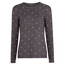 Buy Mango Star Applique Jumper, Dark Grey Online at johnlewis.com
