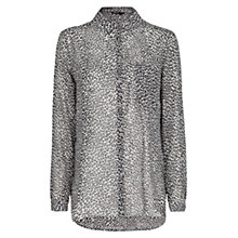 Buy Mango Leopard Print Shirt, Black Online at johnlewis.com