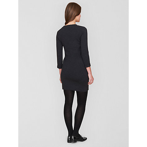 Buy Boutique by Jaeger Gem Collar Dress, Grey Online at johnlewis.com