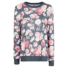 Buy Mango Floral Print Sweatshirt, Medium Pink Online at johnlewis.com