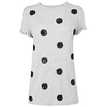 Buy Boutique by Jaeger Jersey Polka Dot Top, Grey Online at johnlewis.com
