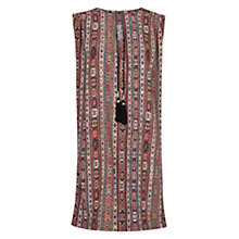 Buy Mango Ethnic Print Dress, Bright Orange Online at johnlewis.com