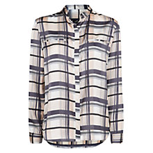 Buy Mango Satin Shirt, Dark Grey Online at johnlewis.com