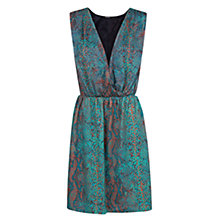 Buy Mango Snakeskin Wrap Dress, Bright Green Online at johnlewis.com