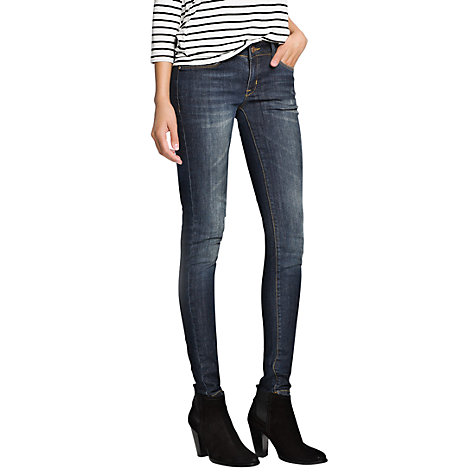 Buy Mango Ultra Skinny Jeans, Blue Online at johnlewis.com