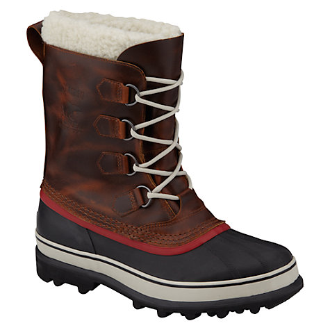 Buy Sorel Caribou Wool Winter Boots, Brown Online at johnlewis.com