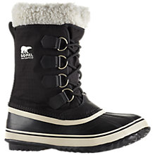 Buy Sorel Winter Carnival Snow Boots, Black/White Online at johnlewis.com