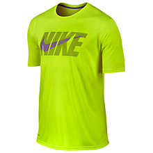 Buy Nike Swoosh Legend T-Shirt, Yellow Online at johnlewis.com