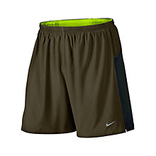 Buy Nike Phenom Two-In-One Running Shorts, Brown/Green Online at johnlewis.com