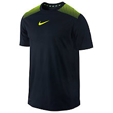 Buy Nike Speed Legend Short Sleeve T-Shirt, Black/Green Online at johnlewis.com