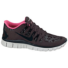 Buy Nike Women's Free 5.0+ Running Shoes, Brown/Grey Online at johnlewis.com
