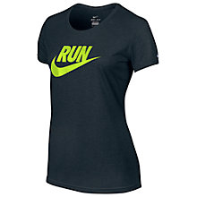 Buy Nike Women's Short Sleeve Swoosh T-Shirt, Navy Online at johnlewis.com