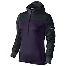 Buy Nike Women's Thermal Half Zip Hoodie, Purple/Black Online at johnlewis.com