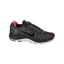 Buy Nike Women's LunarGlide+ 5 Running Shoes, Grey/Pink Online at johnlewis.com