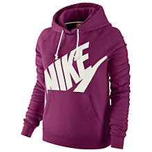 Buy Nike Rally Futura Pullover Hoodie, Purple Online at johnlewis.com