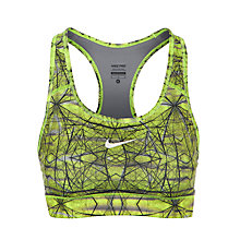 Buy Nike Pro Geometric Print Sports Bra, Green Online at johnlewis.com