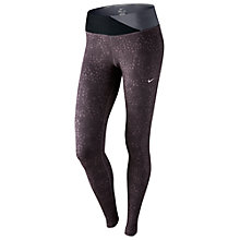 Buy Nike Epic Printed Runnig Tights, Brown Online at johnlewis.com