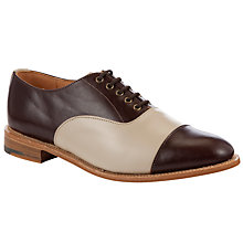 Buy John Lewis Made in England Windsor Brogue Shoes, Brown/Cream Online at johnlewis.com