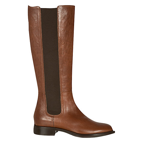 Buy Hobbs Norma Longboot Knee Boots, Winter Tan Online at johnlewis.com