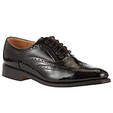 Buy John Lewis Made in England Kensington Brogue Shoes, Black Online at johnlewis.com