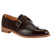 Buy John Lewis Made in England Sandringham Monk Shoes, Brown Online at johnlewis.com