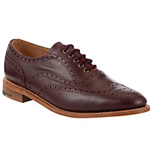 Buy John Lewis Made in England Buckingham Brogue Shoes, Red Online at johnlewis.com