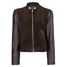 Buy Mango Combination Leather Jacket Online at johnlewis.com