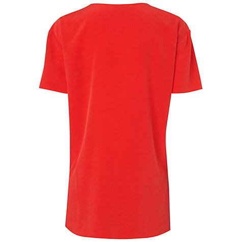 Buy Jaeger T-Shirt Blouse, Red Online at johnlewis.com
