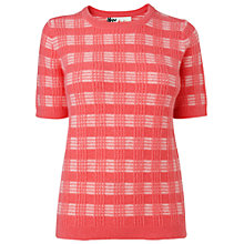 Buy Boutique by Jaeger Check T-Shirt, Pink Online at johnlewis.com