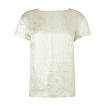 Buy Jaeger Jacquard Tee-Shirt, Metallics Online at johnlewis.com