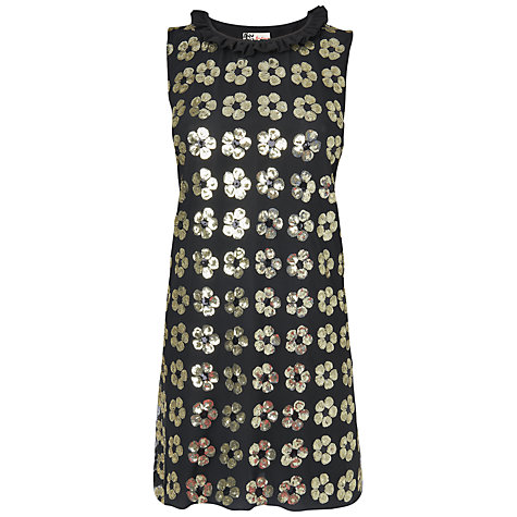 Buy Boutique by Jaeger Floral Sequin Dress, Black Online at johnlewis.com