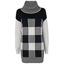 Buy Jaeger Oversized Cowl Neck Sweater, Ivory / Black Online at johnlewis.com
