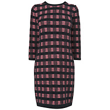 Buy Jaeger Check Knitted Dress, Multi Online at johnlewis.com