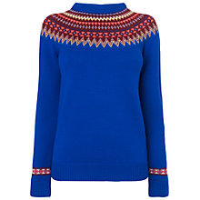 Buy Jaeger Placement Sweater, Blue Online at johnlewis.com