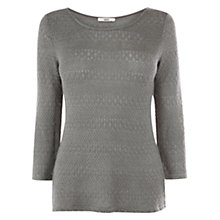 Buy Oasis Lightweight Pointelle Jumper, Mid Grey Online at johnlewis.com
