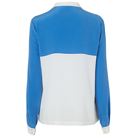 Buy Jaeger Contrast Silk Blouse, Multi Online at johnlewis.com